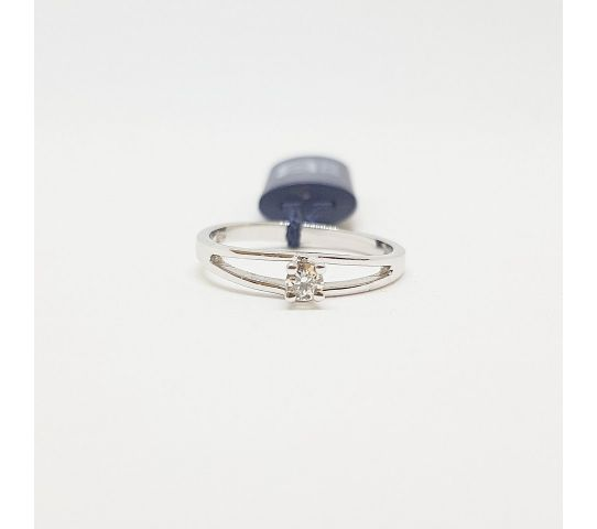 vendita calda online 8bf0a 5c5c4 Anello solitario Davite & Delucchi 0.12 G SI oro bianco diamante ...